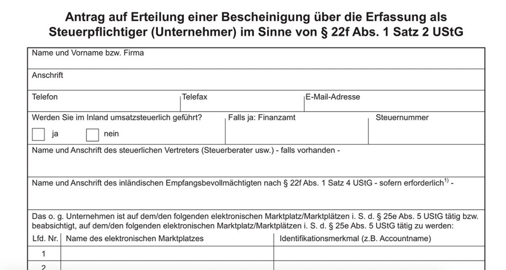 German Tax Certificate Vat And Steuernummer For Amazon Sellers Going Marketplaces